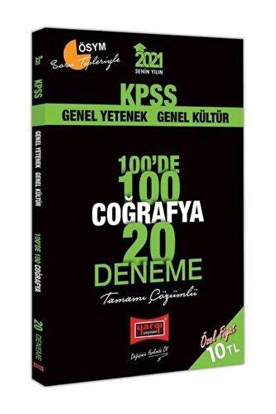 2021 Kpss Coğrafya 100'de 100 Tamamı Çözümlü 20 Deneme Yargı Yayınları