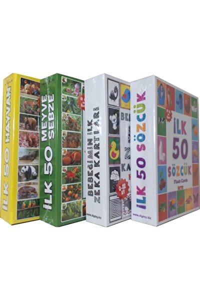 4'lü Eğitim Seti ( Ilk 50 Sözcük + Ilk 50 Hayvan + Ilk 50 Sebze Meyve + Bebeğimin Ilk Zeka Kartları