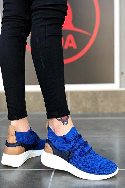 Fly Bağcıklı Rahat Taban Lacivert Sneakers