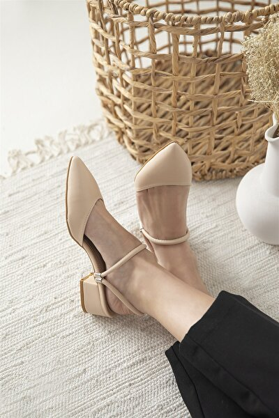 Sky Bayan Topuklu Ayakkabı Ten