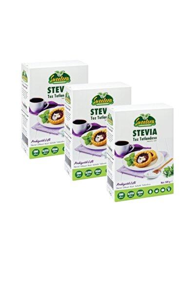 Stevia Prebiyotik Lifli Tatlandırıcı Toz 500 gr 3'lü+ Hediye Preven El Temizleme Mendili
