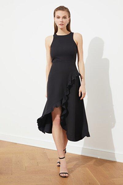 Siyah Volan Detaylı  Elbise TPRSS21EL1511
