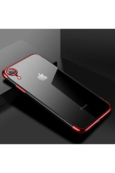 Iphone Xr Kılıf Lazer Boyalı Renkli Esnek Silikon Şeffaf