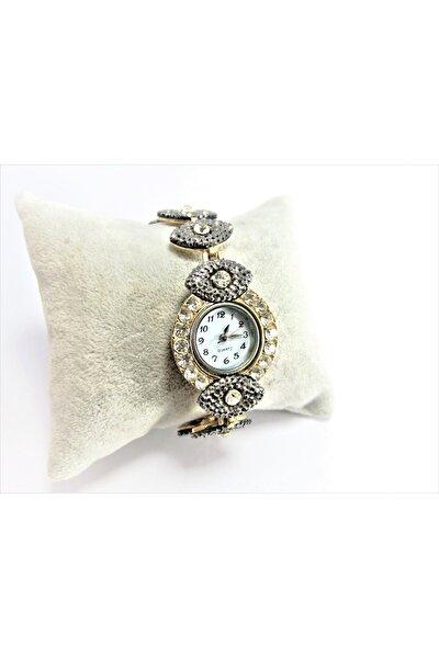 kadın Gümüş Taşlı Kol Saati