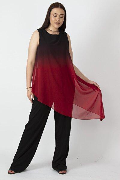 Kadın Siyah Şifon Detaylı Tulum 65N22629