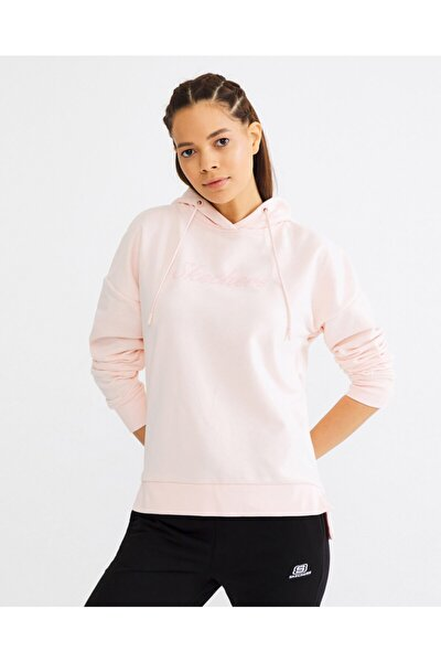 Lightweight Fleece W Low Sleeve Hoodie Kadın Pembe Sweatshirt