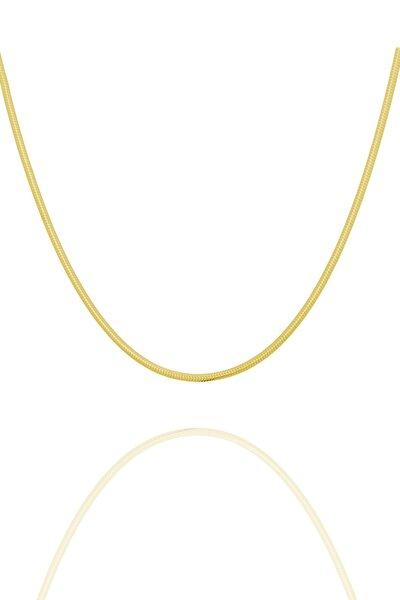 Yılan Model Altın Kaplama Gümüş Zincir 100 Mm Kalınlık