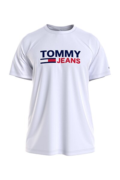 Erkek Beyaz T-Shirt Tjm Corp Logo Tee DM0DM10214