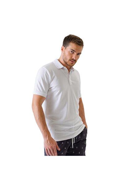 Polo's M Basic Sport Pique Polo T-Shirt Erkek Beyaz Polo Yaka Tshirt