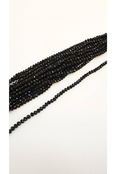 Siyah Kaplama Kristal Boncuk 8 mm