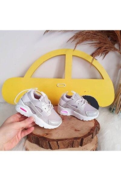Unisex Bebek Gümüş Air Ayakkabı