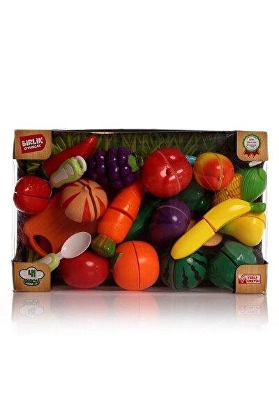 41 Parça Kesilebilen Meyve Sebzeler Manav Seti Oyuncak