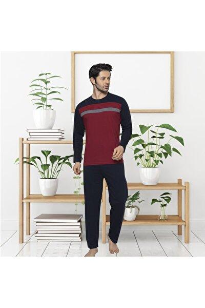 Erkek Pijama Takımı Mevsimlik Orta Kalın Pamuklu Pijama 4100