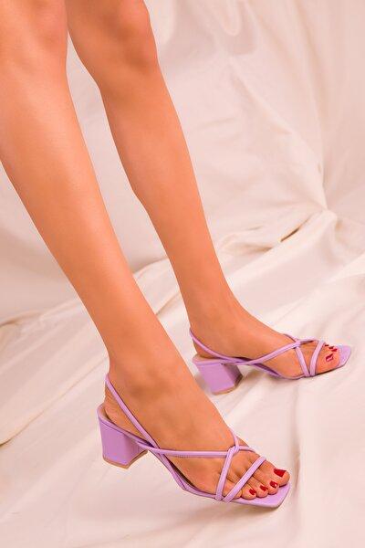 Lila Kadın Klasik Topuklu Ayakkabı 15939