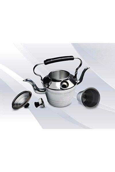 Alüminyum Kamp Çaydanlığı - Süzgeçli Demlik - 2 Si 1 Arada Çift Taraflı Çaydanlık Seti