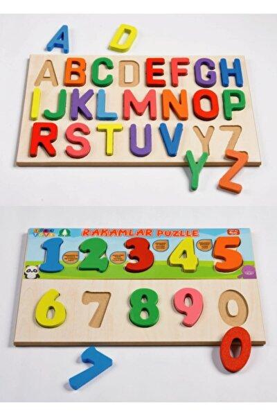 Türktoys Ahşap Puzzle Alfabe + Sayılar Blok Seti