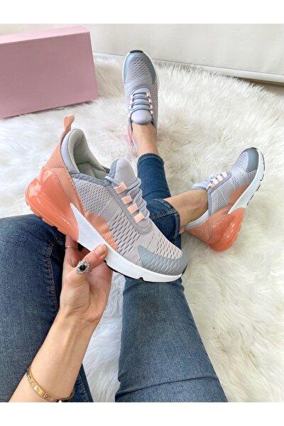 Kadın Grı Pudra Spor Ayakkabı