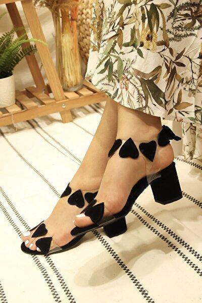 Kadın Süet Siyah Sandalet