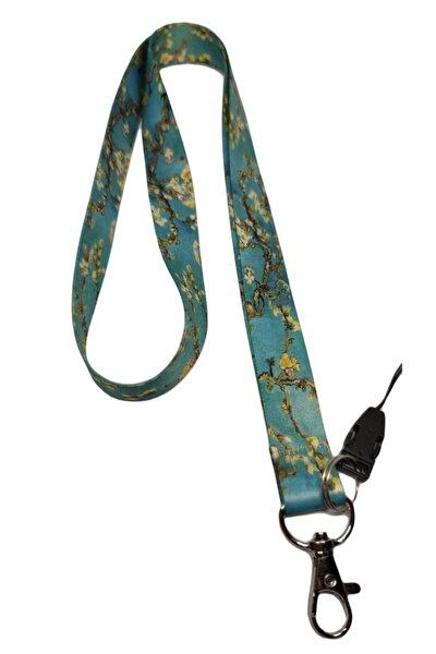 Van Gogh Badem Ağacı Boyun Ipi Telefon Askısı