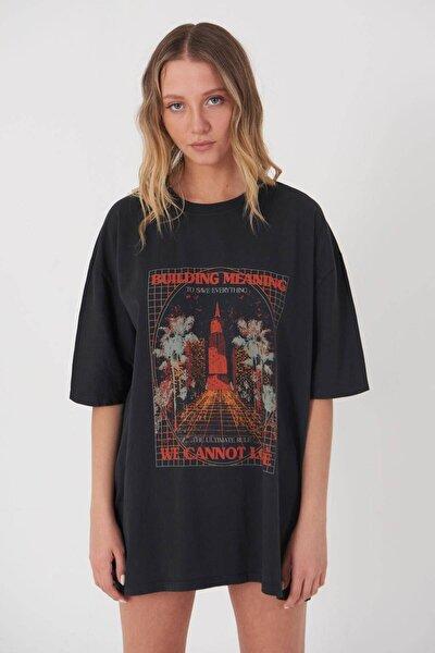 Baskılı T-shirt P9528 - R13