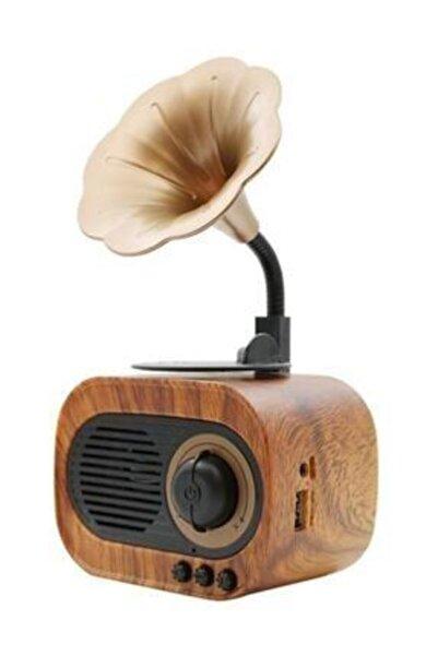 B5 Nostaljik Mini Gramofon Retro Bluetooth Radyo Hoparlör /usb/sd/aux/mikrofon