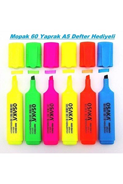 Fosforlu Kalem Canlı Renkler 6'lı Set