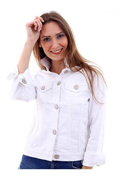 kADIN Beyaz Denim Ceket