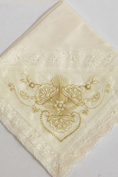 Fransız Dantel Taş Süslemeli Monalisa Çeyiz Bohçası Gold