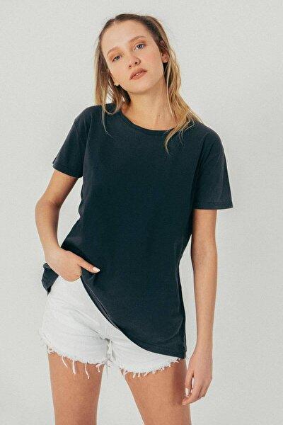 Kadın Füme Basic T-Shirt P9384 - T9T10 Adx-0000021583