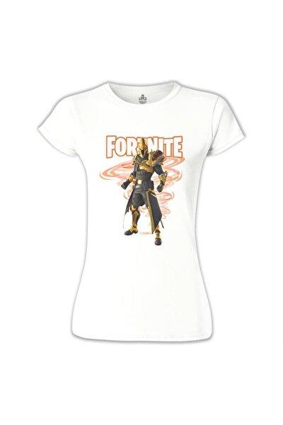 Kadın Beyaz Fortnite - Ultima Knight Tshirt