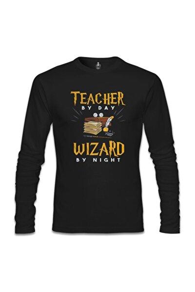 Erkek Siyah Teacher By Day Öğretmenler Günü Sweatshirt sl1229