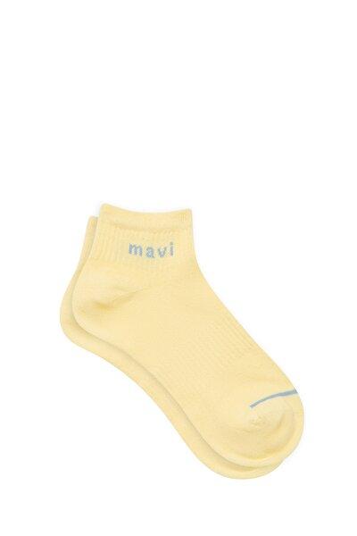 Logo Baskılı Sarı Soket Çorap 198120-33200