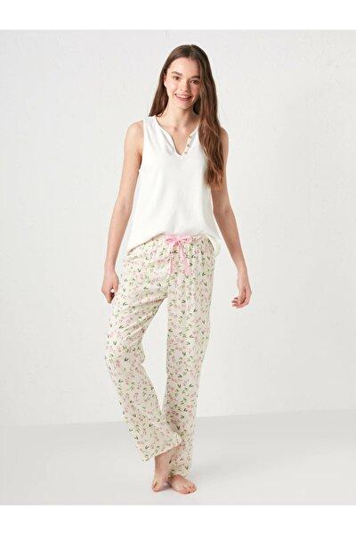Kadın Ekru Pijama Alt