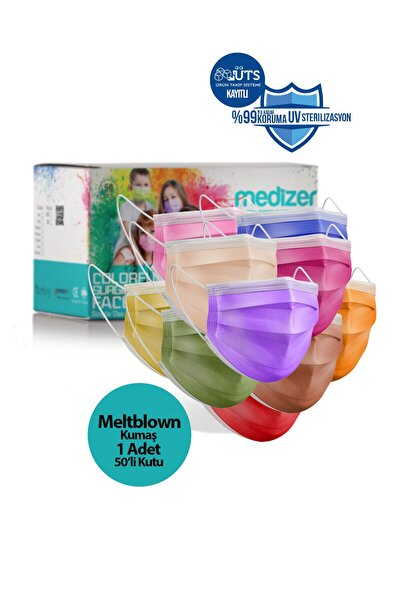 Medizer Full Ultrasonik Cerrahi Ağız Maskesi 3 Katlı 50 Adet