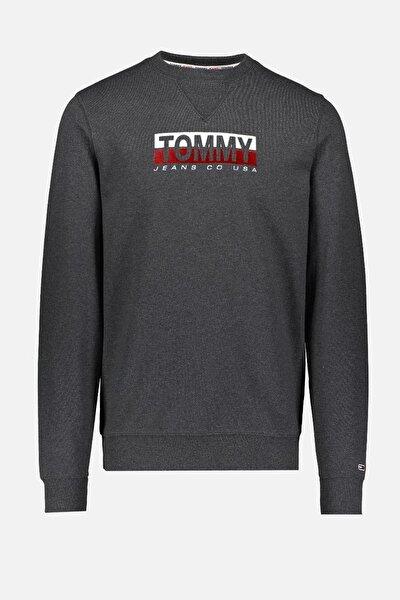 Erkek Gri Sweatshirt Tjm Essentıal Splıt Box Crew DM0DM08732