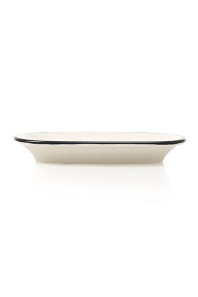 Tulu Porselen Klasik Kayık Tabak - Siyah/15 Cm