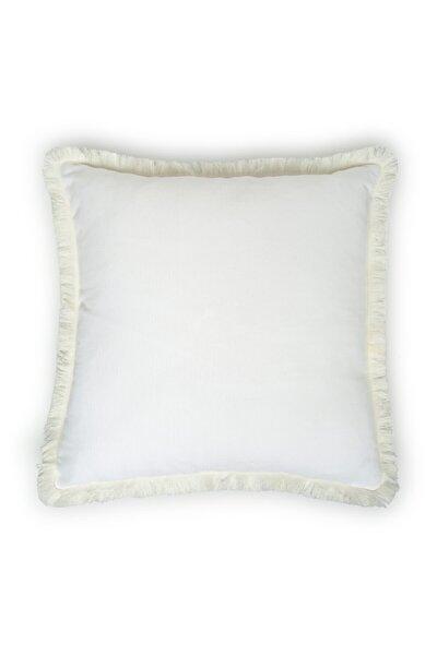 Kırık Panama Kırlent 43x43 Cm - Beyaz