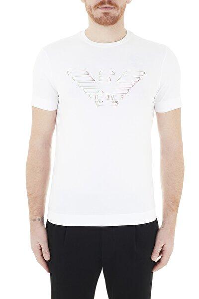 Erkek Logo Baskılı Bisiklet Yaka Pamuklu T Shirt T Shirt 3k1tca 1j11z 0101