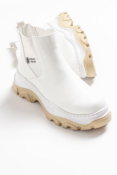 3127 Beyaz Cilt Kadın Bot