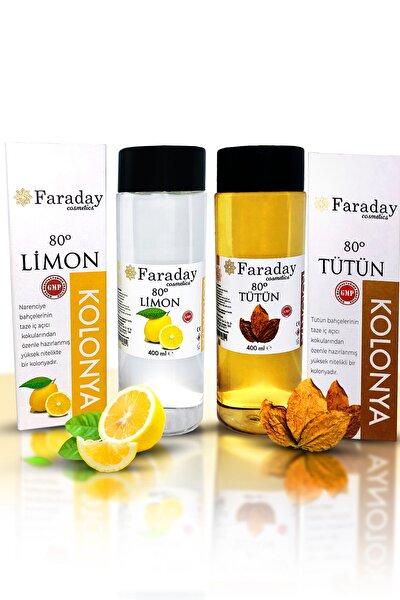 Limon Ve Tütün Kolonyası - 80 Derece 400  Ml +80 Derece 400  Ml 2 li