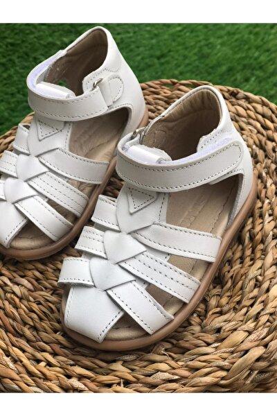 Çocuk Deri  Destekli Sandalet