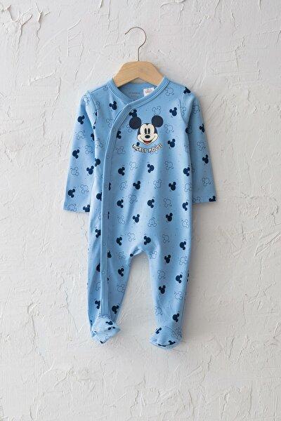 Erkek Bebek Mavi Baskılı Lqq Tulum