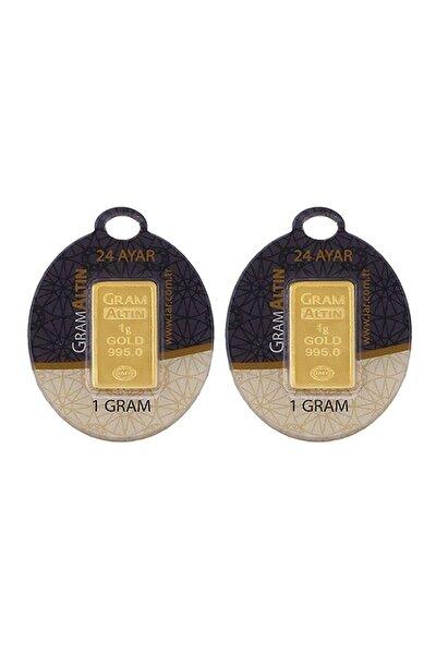 2 Adet 1 gr 24 Ayar gram Altın