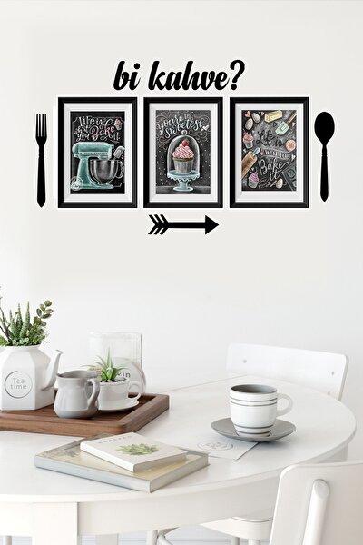 Mutfak Tasarımlı Renkli 7 Parçalı Dekoratif Tablo Seti