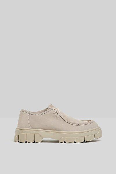 Erkek Kum Rengi Deri Ayakkabı 12602760