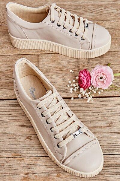Bej Kadın Sneaker K01586020309
