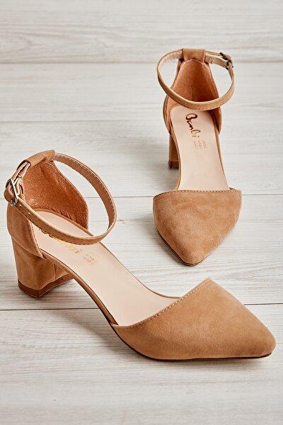 Vizon Süet Kadın Klasik Topuklu Ayakkabı K01503720072