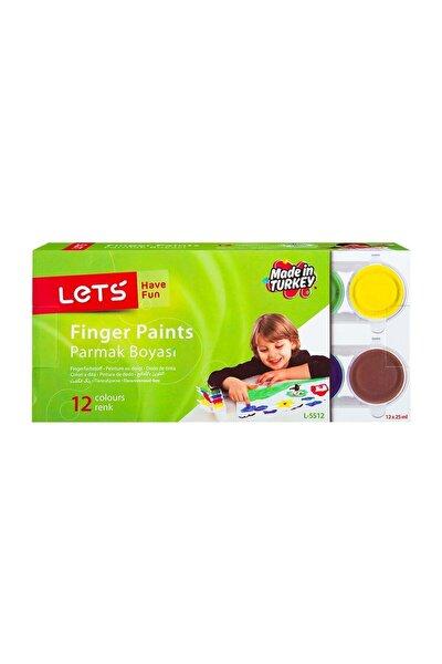 L-5512 12 Renk Parmak Boyası 12x25 Ml