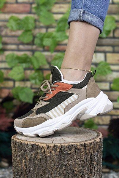 Kadın Bej Sneaker 0012189