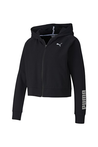 Kadın Siyah Rtg Pamuklu Fermuarlı Sweatshirt 58147901